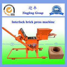 2015 YingFeng brand Durable YF2-40 interlocking brick making machine