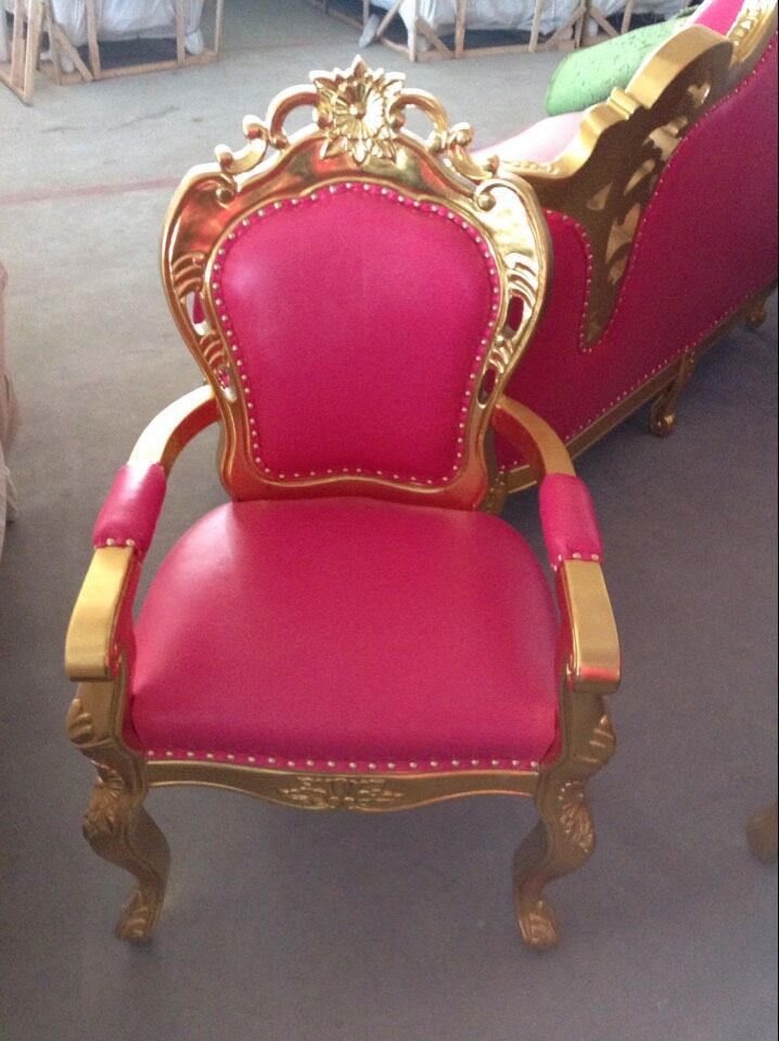Pink Sofa,Golden Sofa,Luxury Royal Sectional Sofa From
