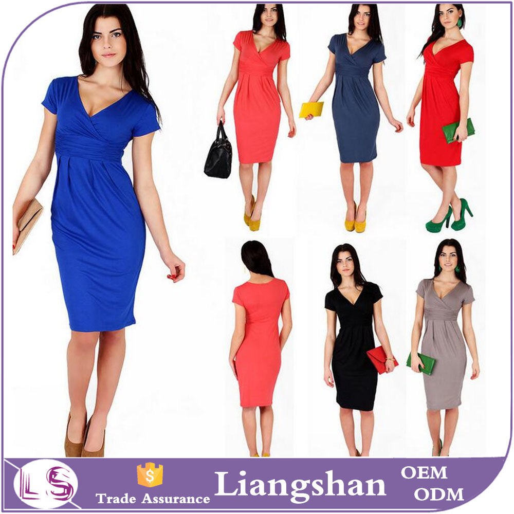 Fashion Sexy <strong>Women</strong> Short Sleeve Cocktail Evening Party Midi Bodycon Dress
