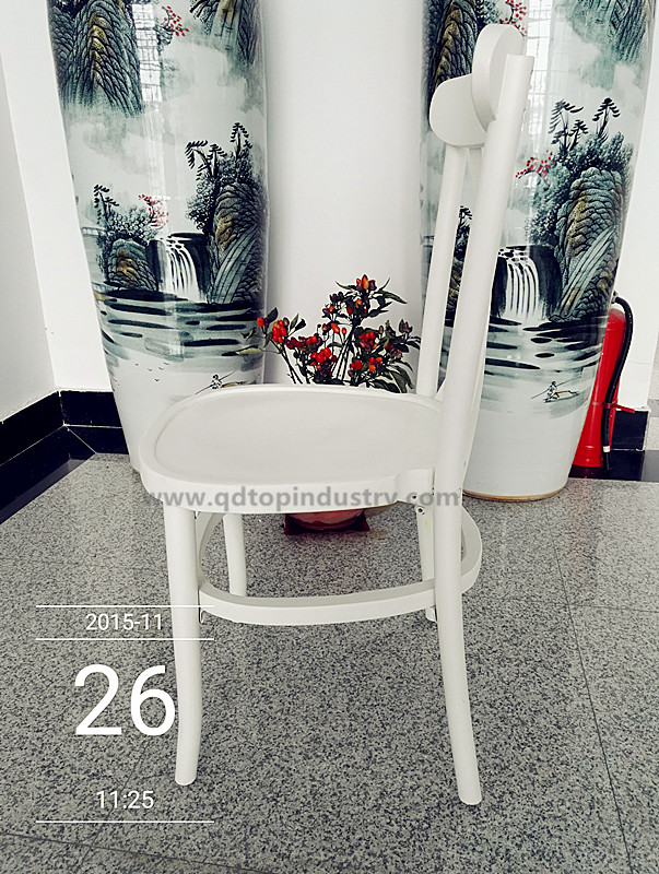 High Quality Wooden Stackable White Tuscan Chairs