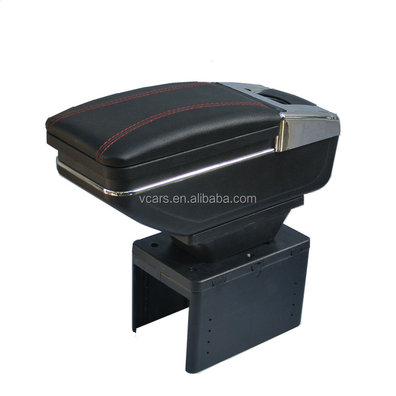 Auto Accessories Universal Car Armrest Console Boxes With 7 USB Interior Trim and Cup Holder