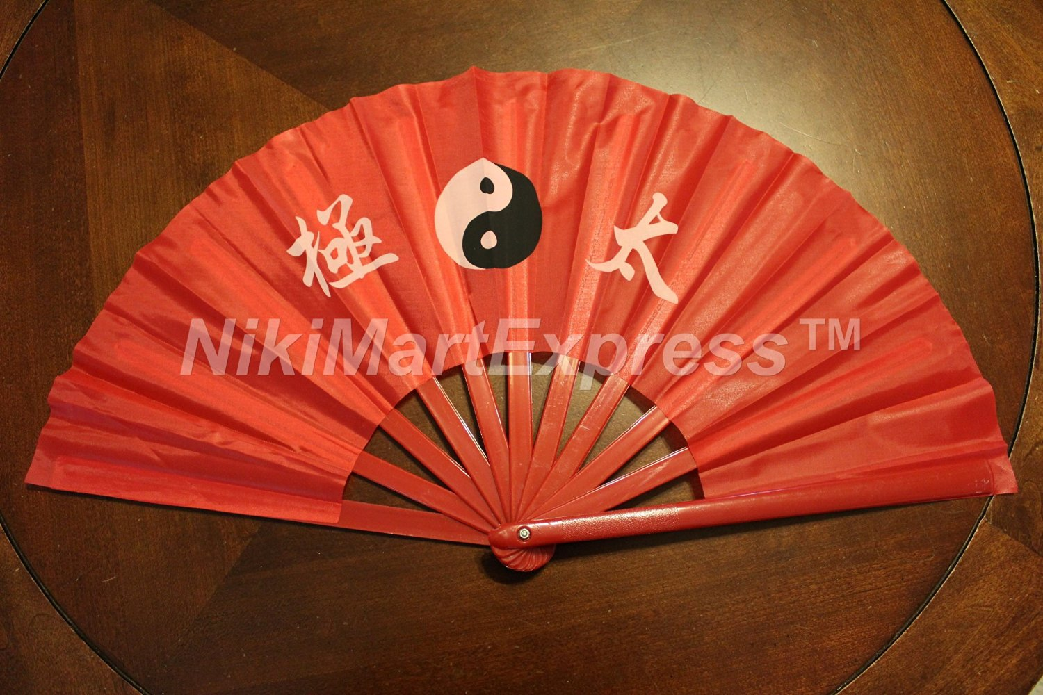 Oriental Chinese Tai Chi/Kung Fu/Dance/Practice Performance Hand Folding Fan RED