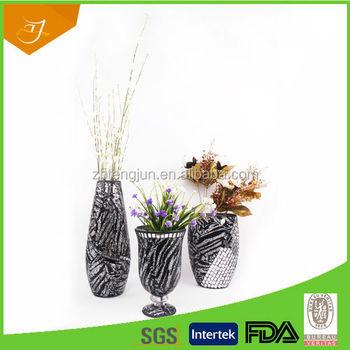 Decorative Mosaic Tall Trumpet Glass Vasesdecorative Mosaic Trumpet