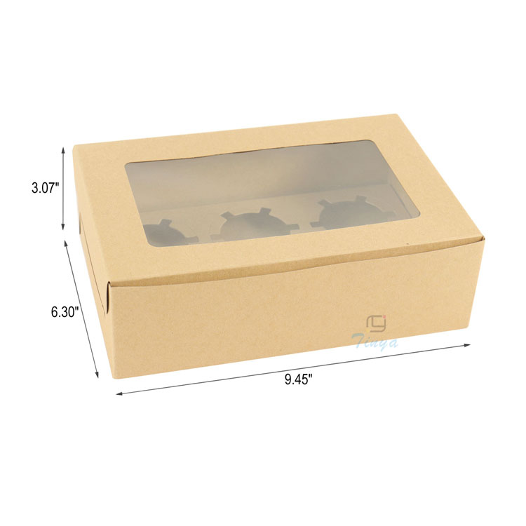 custom packaging kraft paper box with window