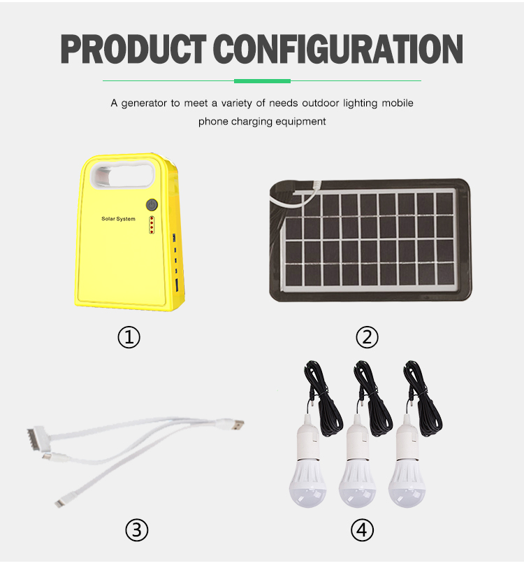 Hot sale Mini portable 3W 9V solar power panel home system