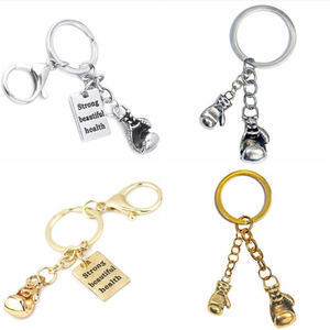 Boxing Glove Charm Metal Keychain Strong Beautiful Health Key Ring