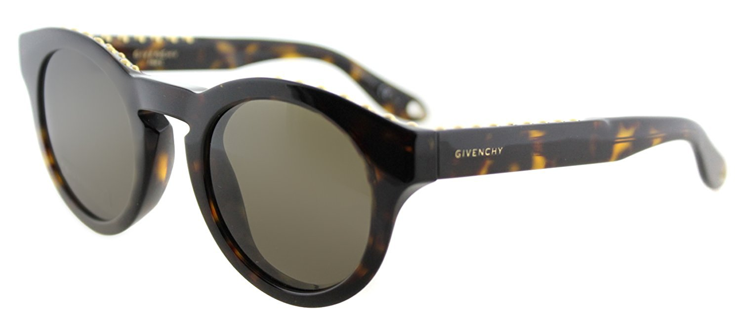 fa7f2d0890b1 Get Quotations · Givenchy GV 7007 086 Studed Havana Plastic Round Sunglasses