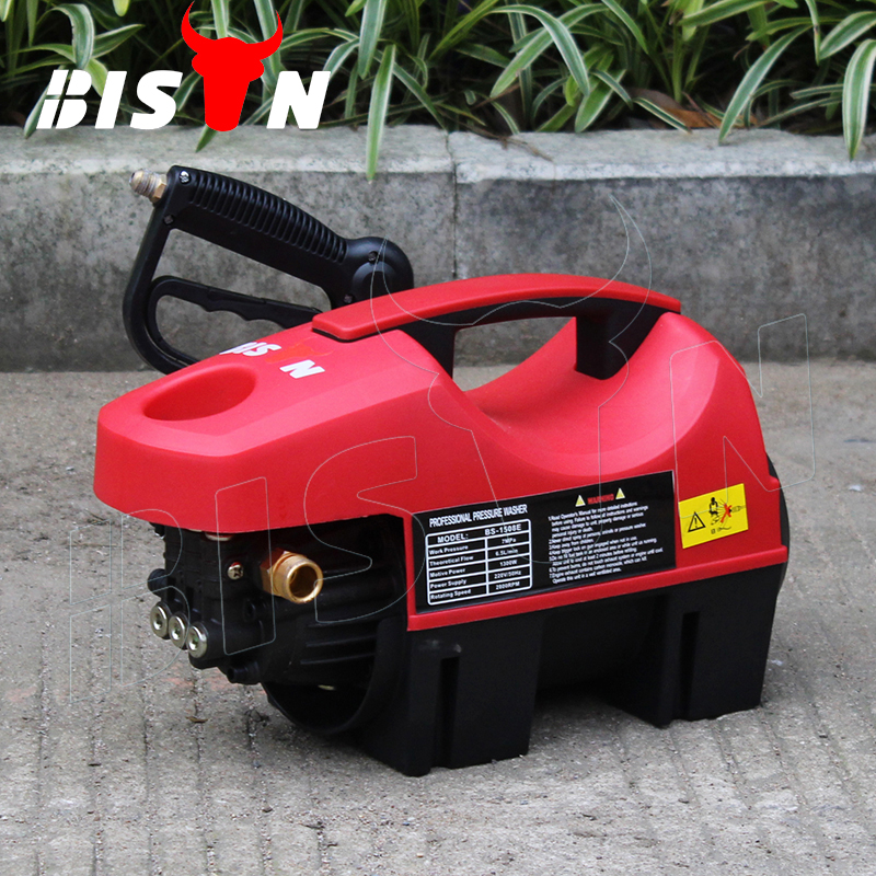 BISON(CHINA) BS-1508E 90Bar Home Use Portable Water Pressure Washer With 1.8KW Motor