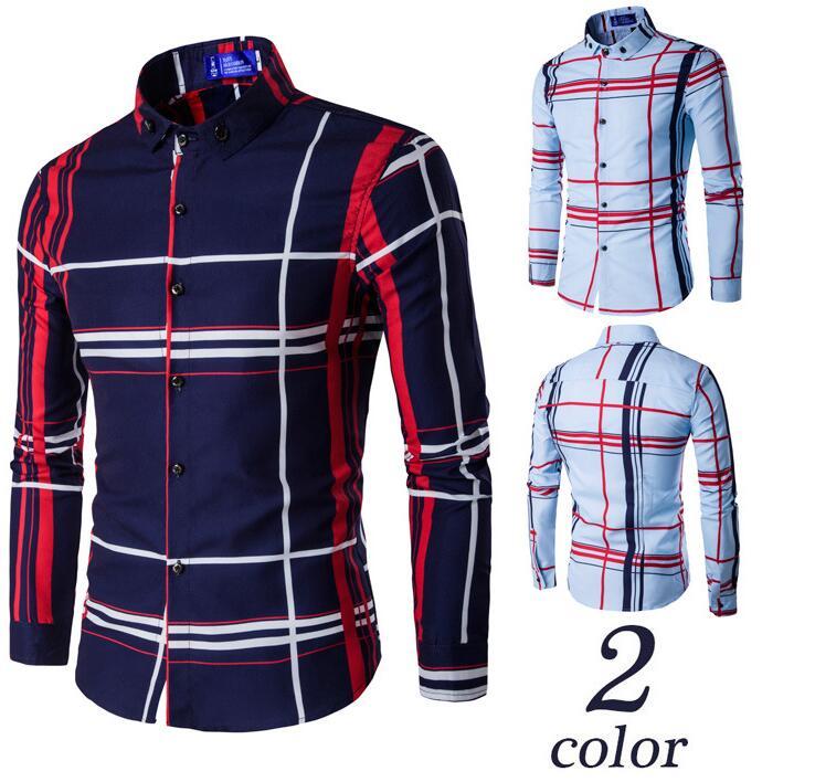 2018 New Style Fashion Boy S Shirt Fancy Design Men Shirt 2017