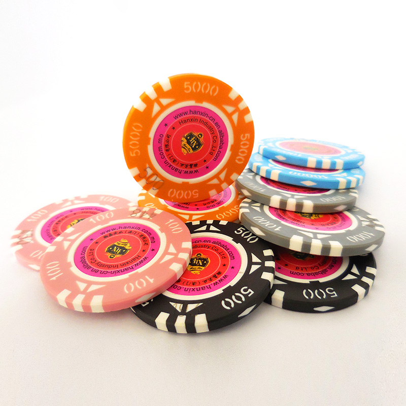 Custom metalen ABS plastic poker chips casino chips gaming chips