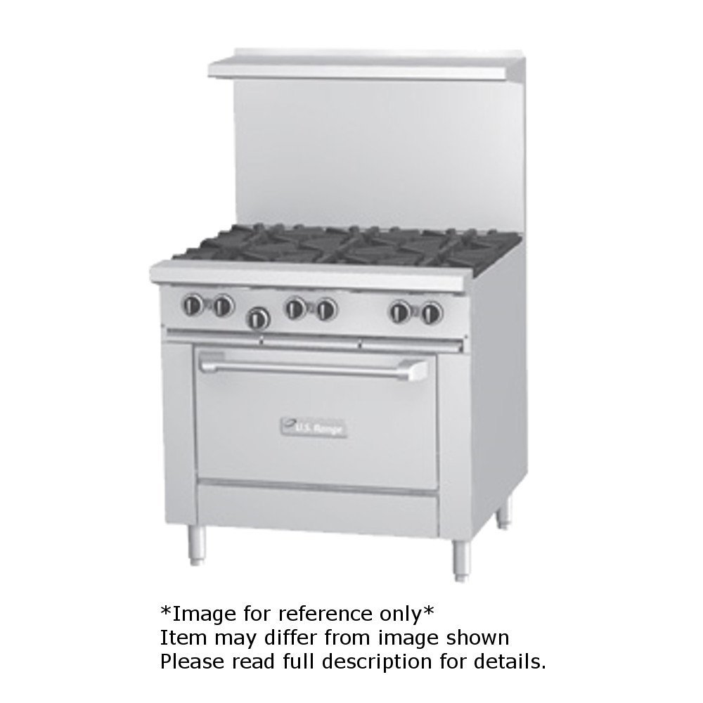"Garland U36-2G24R U Series 36"" Gas Restaurant Range with (2) 32,000 BTU Open Burners, (1) 24"" Griddle & (1) Standard Oven"