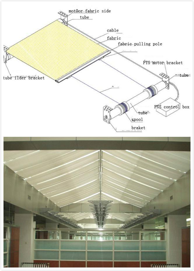 Fts Caravan Skylight Roof Skylight Indoor Electric Roller