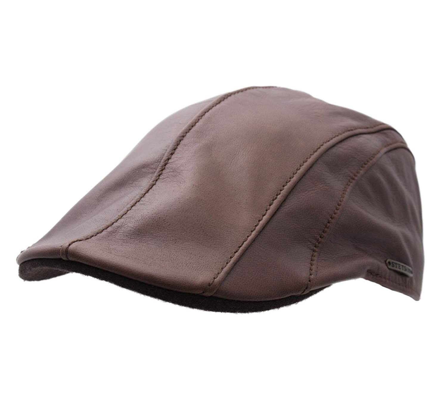 f024f2dd708 Buy Stetson Manatee Goatskin Leather Duckbill Flat Cap in Cheap ...
