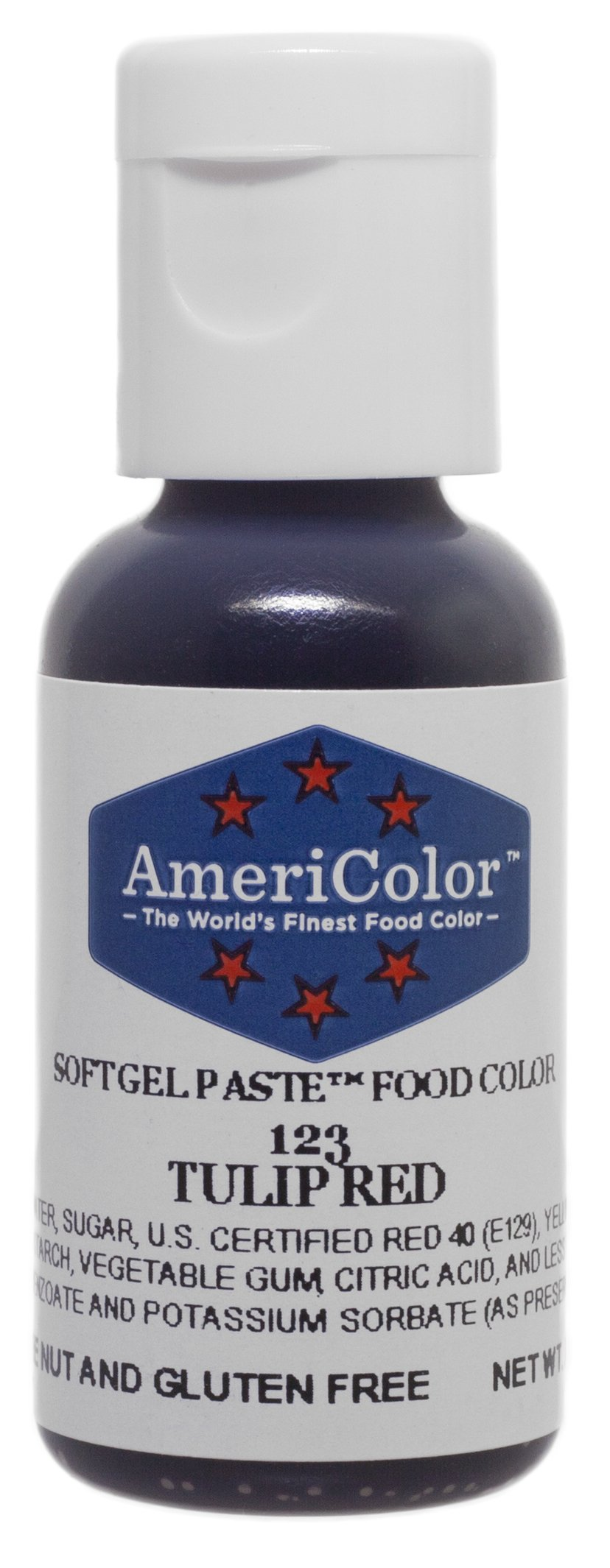 Americolor Soft Gel Paste Food Color, .75-Ounce, Tulip Red