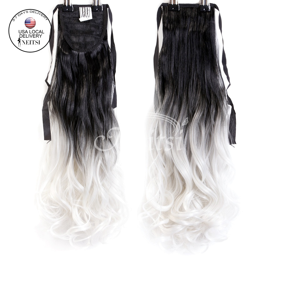 Buy Neitsi Ombre Synthetic Ponytails Hair Extensions 22quot