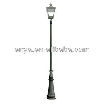 Tapered Cast Iron Street Lamp Post, Outdoor Lighting Pole