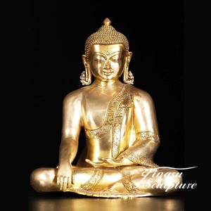 New design Gold plated Buddha Statue for wholesales