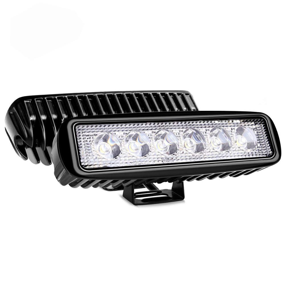 กันน้ำ 12V 24V 6 นิ้ว 1000LM 18W ไฟ LED ทำงานสำหรับรถบรรทุก