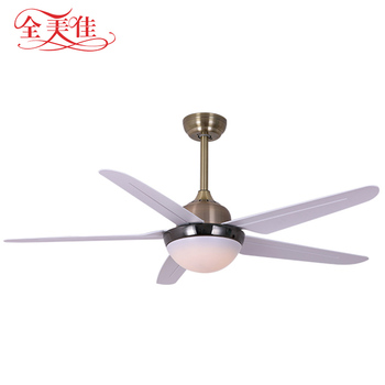 High Quality Modern European Style 5 Blades Remote Control AC Ceiling Fan With Led Lights