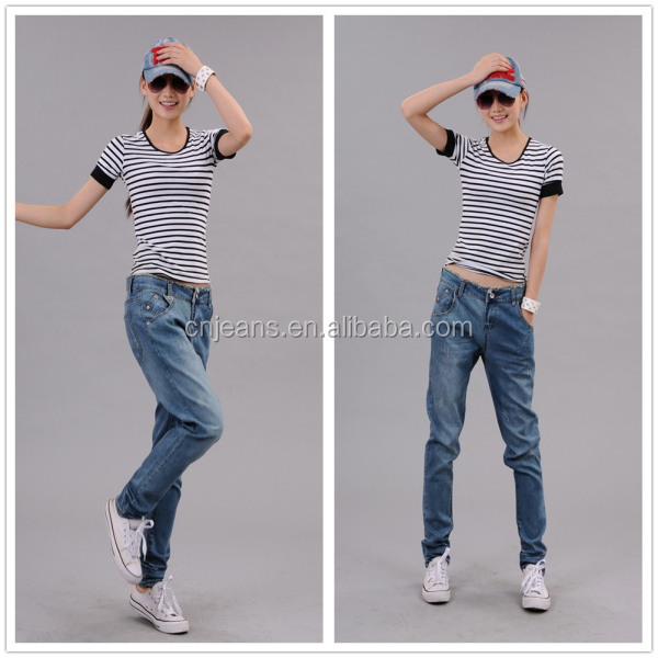 2014 various kinds 100% cotton denim jeans for male and female