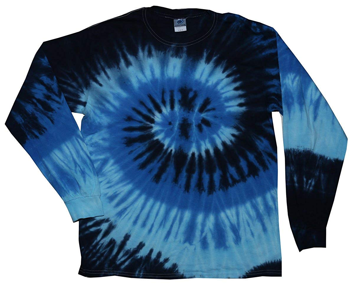 3c7a3c2476e Get Quotations · Tie Dye Long Sleeve T-Shirts Multicolor Youth Kids Sizes  100% Cotton