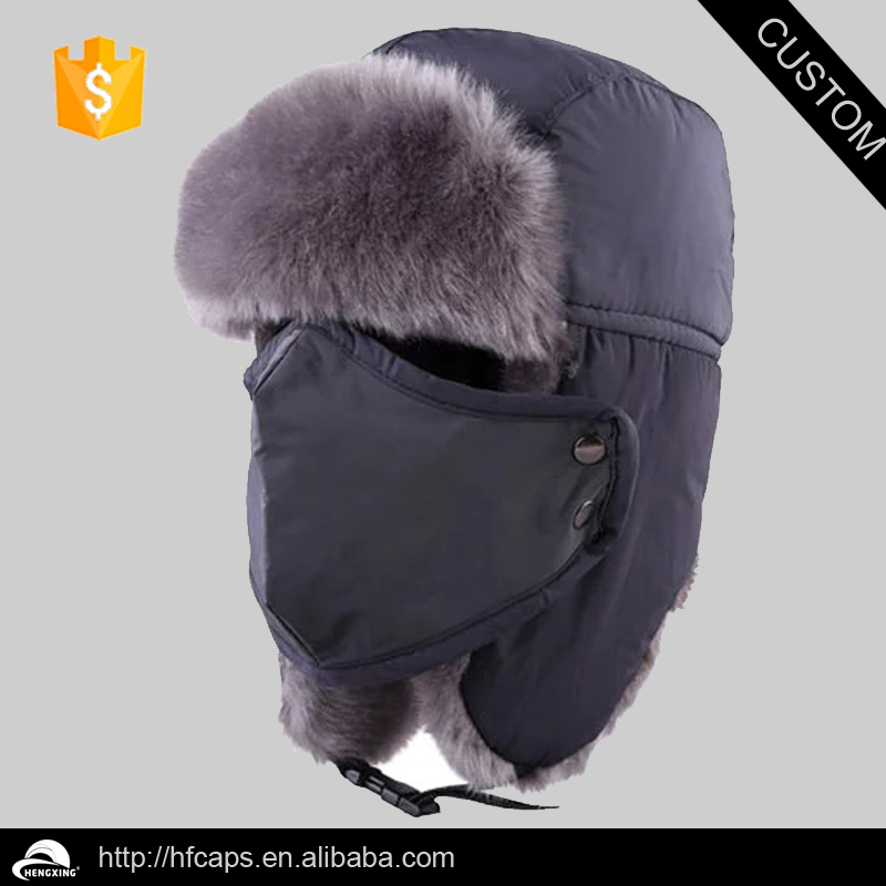 Funny winter ski hat / Russian ski ear flap cap