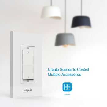 Koogeek wifi smart remote control dimmer light switch for US standard 110V MFI FCC & Koogeek Wifi Smart Remote Control Dimmer Light Switch For Us ...