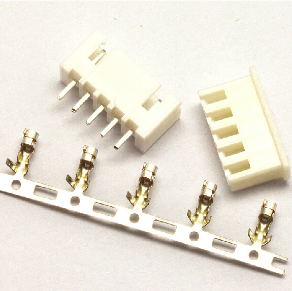 100Set/Lot XH2.54 2.54mm 5Pin 5P Straight Needle 180 degree Male Pin Header + Terminal + Female Housing Connector