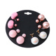 Fashion Jewelry 4 Pairs Candy Color Plastic Ball Earring Studs For Girl