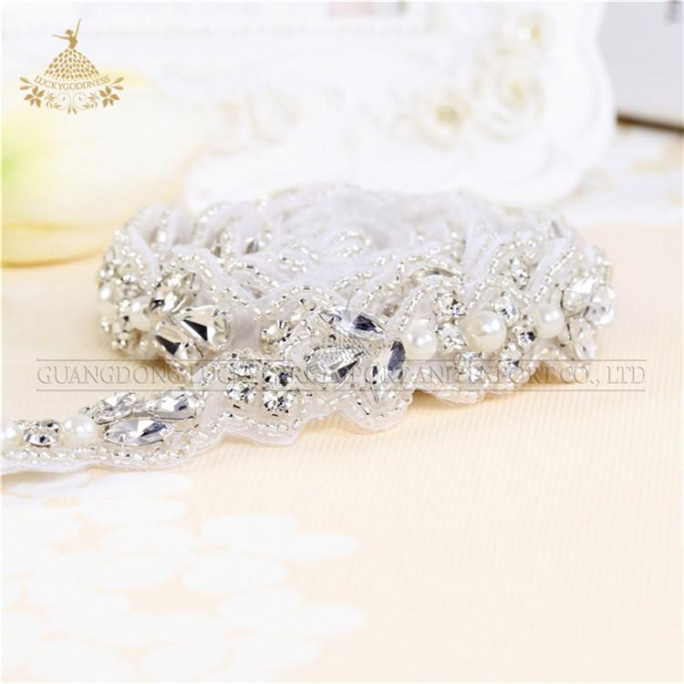 चमकदार क्रिस्टल स्पष्ट स्फटिक पिपली, दुल्हन सैश के लिए DIY पिपली शादी ज़ेब LG1086