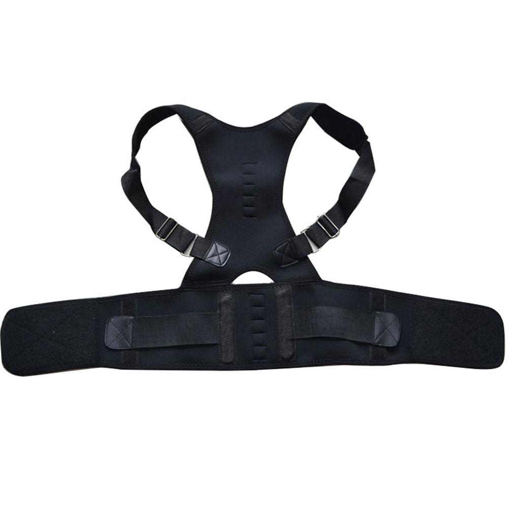 New Magnetic Postur Korektor Neoprene Kembali Korset Bahu Sabuk Tulang Belakang Punggung Dukungan Brace Pelurus Untuk Pria
