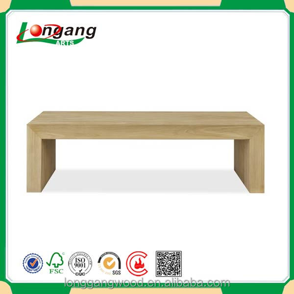 Outdoor Skinny sandbeach Solid Wooden Coffee Table