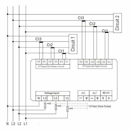 Sdm630mv Ct-2c 0.33v Ct Operated,Dual Input Multifunction Power ...