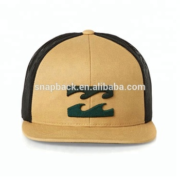 Custom High Quality Cotton Twill 3D Embroidery Flat Trucker Hat Wholesale aee29913db4