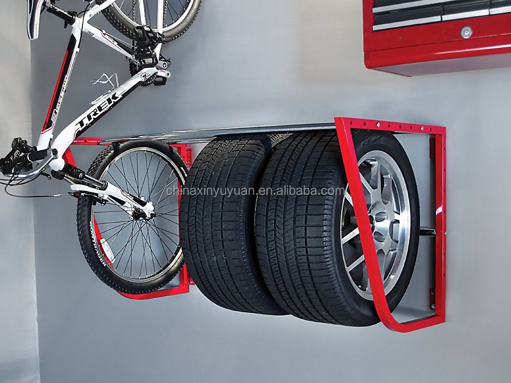 folding tire hang storage loft rack garage shop wall mount car truck shelf new buy car truck. Black Bedroom Furniture Sets. Home Design Ideas
