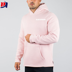 High Quality Wholesale Muscle Wear 100% Cotton Mens Scoop Bottom Hoodie