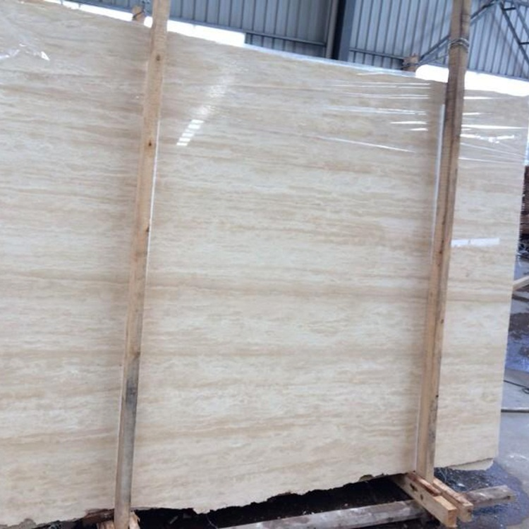 Turkey Beige Travertine Slabs And Tiles Classic Light Travertine Polished Floor Tiles And Wall Tiles