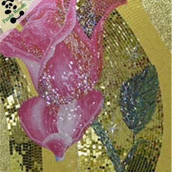 Mb Smm16 Pembe Gül Cam Mozaik Desen çini çiçek Mozaik çini Duvar Asılı Cam Boyama Buy Duvara Asılı Cam Boyamaçiçek Mozaik çinicam Mozaik Desen