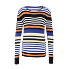 Rainbow Striped Cashmere Sweater Women Knitted Plus Size Pullover Clothes