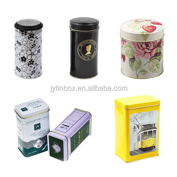 China Supplier Food Grade Packaging Tea Tin Box Tea Tin Can