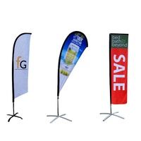 Custom Outdoor Advertising Banner Beach Teardrop Or Feather Flying Wind Flag