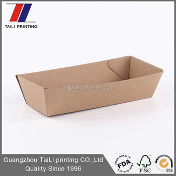 Food Grade Paper Food Tray Template F-flute Corrugated Cardboard ...