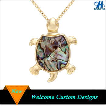 Costume Jewelry Whole Real Sea Paua Shell Turtle Necklace For Children Product On