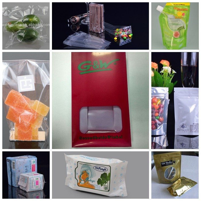 aluminum foil stand up plastic packaging baby food pouch with zipper