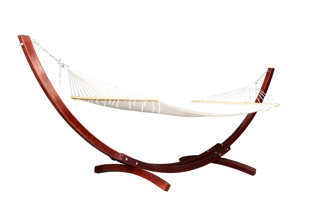Outsunny With Hammock Cypress Wooden Arc Hammock Stand