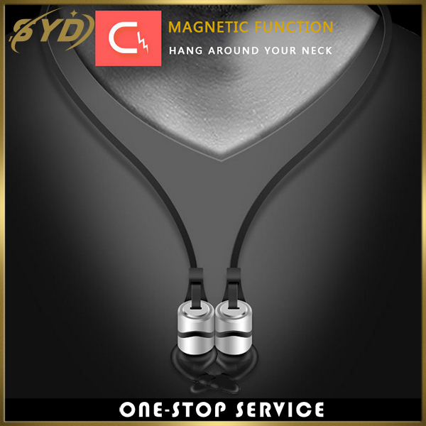 Good quality D9 magnetic Anti-wrap sport waterproof wireless earphone 4.1 for iphone 7/7p