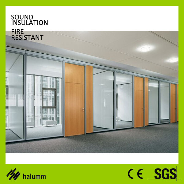 Frameless Glass Acoustic Panel Office Partition Soundproof Mdf
