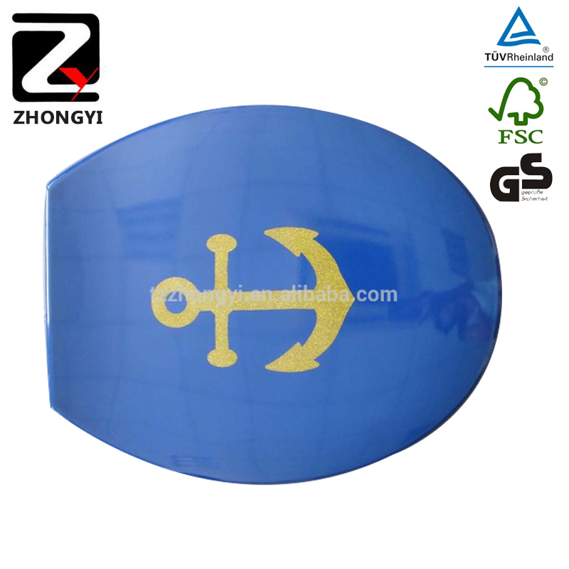 slow duroplas blue sanitary toilet seats