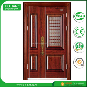 Latest Main Gate Designs Security Steel One And Half Door Economical Single Steel Safety Mom and Son Door
