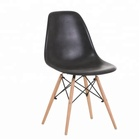 home living dining room restaurant sillas abs plastic chair with solid wood legs